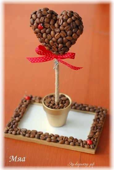 Как сделать топиарий из кофейных зерен пошаговая инструкция - Kazan-avon