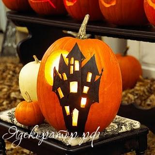 Украшение на Хэллоуин - что сделать из тыквы (15) .