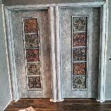Винтажные двери в лофт-интерьер