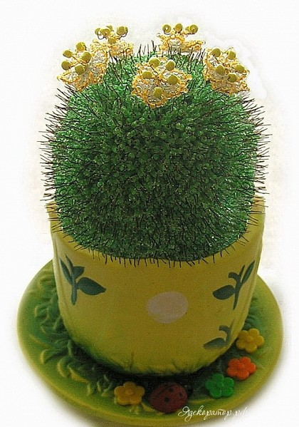 Как сделать кактус из бисера