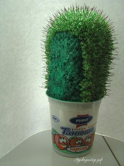 Как сделать кактус из бисера своими