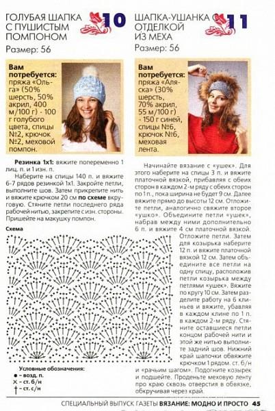 роста, вязание спицами шапочки для девушки заполнения заголовочной части