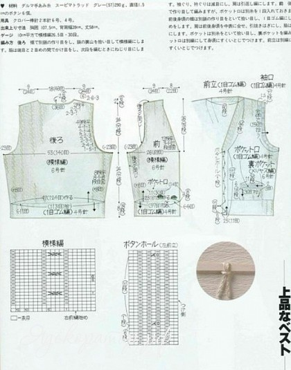 схема вязания комбинезона для мальчика