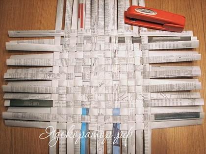 Как сделать карзинку из газеты