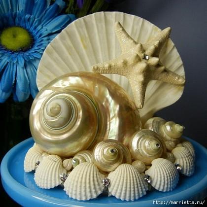 Поделки из морских ракушек с инструкцией