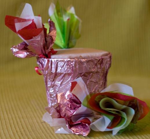 нанизываем конфету на