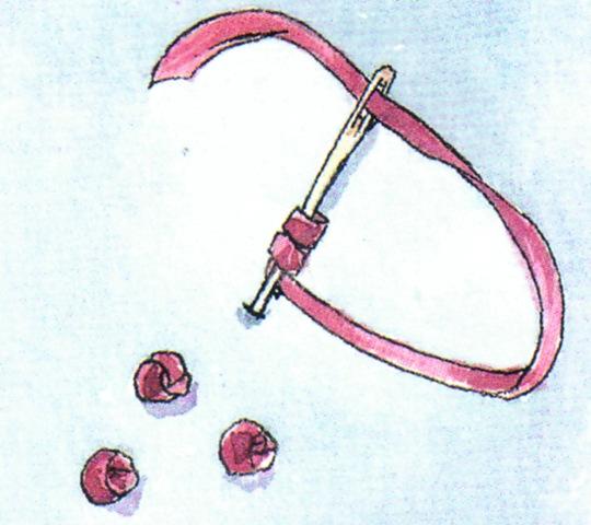 Вышивка лентами основные швы