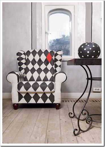 Декорируем кресло в стиле арт-деко
