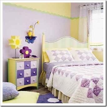 Лиловая комната для девочки