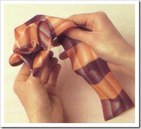 Ободок для волос из лент