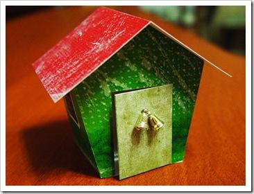 Новогодний домик-открытка