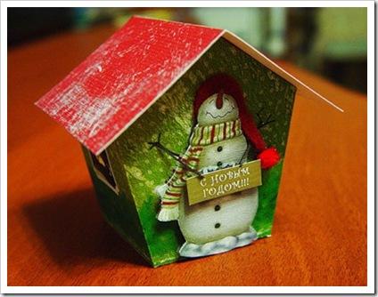 Новогодний домик для конфет