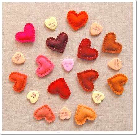 Сердечки на день Св. Валентина