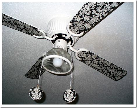 Декорирование потолочного вентилятора