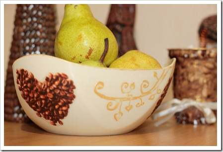 Тарелка для фруктов своими руками